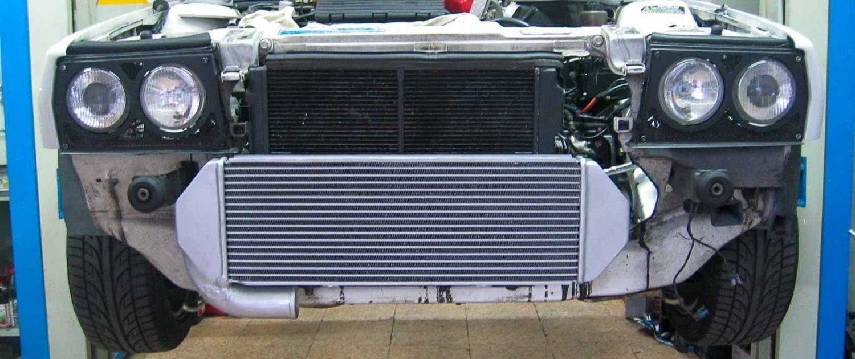 Elaborazione Lancia Delta Evoluzione - Intercooler Frontale